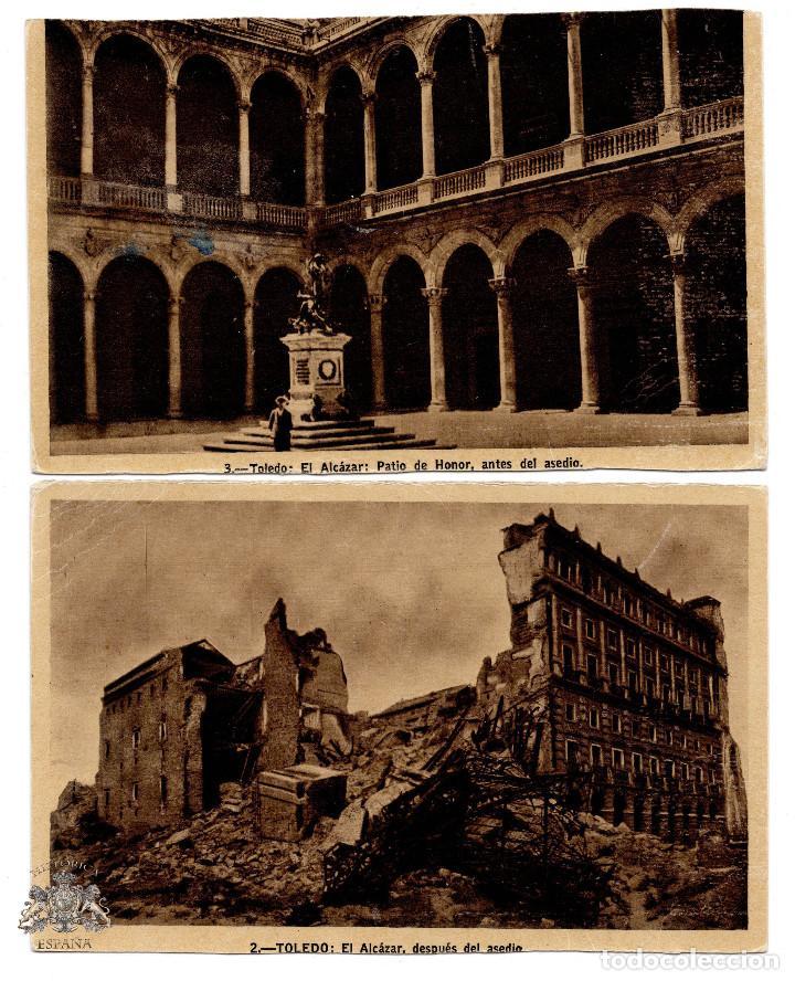FOTOGRAFÍAS POSTALES DEL ALCÁZAR TOLEDO ASEDIO (Militar - Fotografía Militar - Guerra Civil Española)