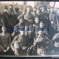 Militaria: (JX-170155)FOTOGRAFÍA DE GRUPO DE SOLDADOS POSANDO EN UN BARCO,ÁFRICA , CAMPAÑA DEL RIF. Lote 74595227