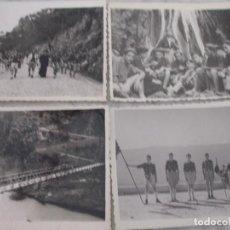 Militaria: LOTE DE 4 FOTOS CAMPAMENTO JUVENTUD FALANGE - 1952. Lote 74858031