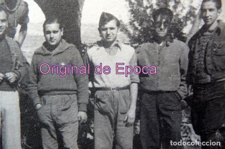 Militaria: (JX-170253) Fotografia voluntarios del Ejercito popular Catalán, probablemente frente de Guadalajara - Foto 2 - 76065163