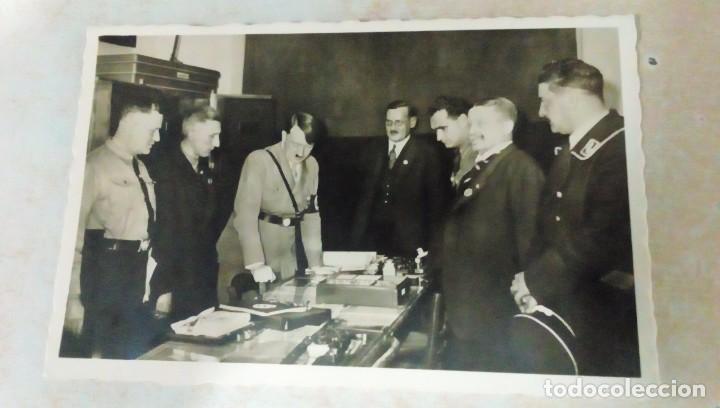 FOTO POSTAL DE HITLER Y HESS, FOTÓGRAFO HEINRICH HOFFMANN (Militar - Fotografía Militar - II Guerra Mundial)