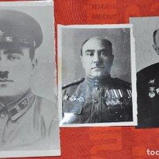 Militaria: LOTE TRES FOTOS DE UN CORONEL .VETERANO SGM CON ORDENES I MEDALAS .URSS. Lote 77143121
