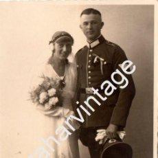 Militaria: WWII, FOTOGRAFIA DE BODA DE UN SOLDADO ALEMAN,95X150MM. Lote 77480921