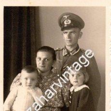 Militaria: WWII, FOTOGRAFIA DE UN SOLDADO ALEMAN,88X138MM. Lote 77482181