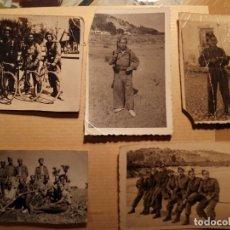 Militaria: EJERCITO ESPAÑOL - 5 FOTOGRAFÍAS DE LA MISMA FAMILIA ALICANTE AÑOS 30/40 - TAMAÑO BOLSILLO. Lote 77663757