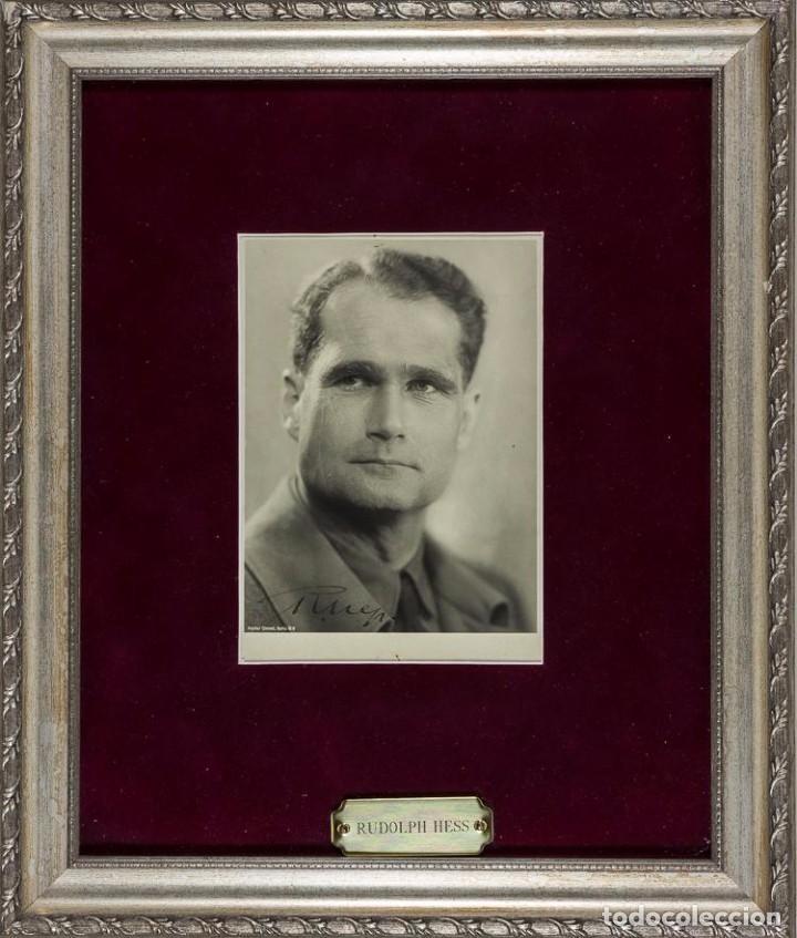 FOTOGRAFÍA DE RUDOLF HESS AUTOGRAFIADA FIRMADA, TERCER REICH, ADOLF HITLER, FUHRER,NSDAP,NAZI (Militar - Fotografía Militar - II Guerra Mundial)