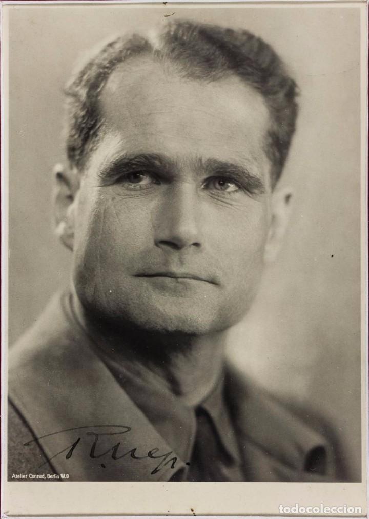 Militaria: Fotografía de Rudolf Hess autografiada firmada, Tercer Reich, Adolf Hitler, Fuhrer,NSDAP,nazi - Foto 2 - 79174389
