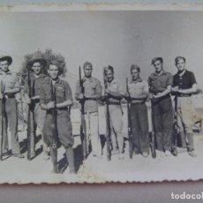 Militaria - GUERRA CIVIL : FOTO DE GRUPO DE MILITARES Y MILICIANOS NACIONALES , 1938 - 79196861