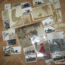 Militaria: 30 FOTOS ANTIGUAS HIPICA MILITAR LOGROÑO SAN SABASTIAN CADIZ ZARAGOZA CONTRACARROS CAMPO MANIOBRAS. Lote 79465393