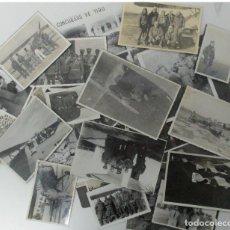 Militaria: LOTE DE MAS DE 30 FOTOS AVIACIÓN GUERRA CIVIL. AVIONES , PILOTOS, UNIFORMES , ETC.. Lote 79513901