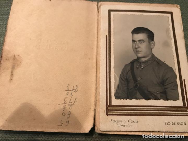 ANTIGUA FOTOGRAFÍA MILITAR SOLDADO ARTILLERÍA GUERRA CIVIL ESPAÑOLA SEO DE URGEL FOTO DIEGO (Militar - Fotografía Militar - Guerra Civil Española)