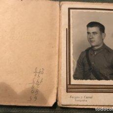 Militaria: ANTIGUA FOTOGRAFÍA MILITAR SOLDADO ARTILLERÍA GUERRA CIVIL ESPAÑOLA SEO DE URGEL FOTO DIEGO . Lote 79666401