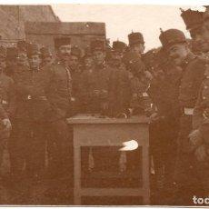 Militaria: FOTOGRAFÍA POSTAL MILITARES ARTILLERÍA ALFONSO XIII - 12,5 X 7,5. Lote 79758253