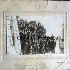 Militaria: (JX-170346) FOTOGRAFÍA DE LA TRIPULACIÓN DEL DESTRUCTOR ALMIRANTE FERRANDIZ , DATADA EN 1930. Lote 79876077