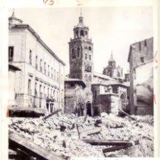 Militaria: GUERRA CIVIL EN TERUEL. VISTA CATEDRAL RUINAS CIUDAD ENERO 1938. Lote 79896545