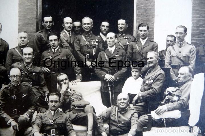 Militaria: (JX-170351) Fotografía de Grupo de Jefes y Oficiales de Caballeria , años 30 - Foto 2 - 79970173