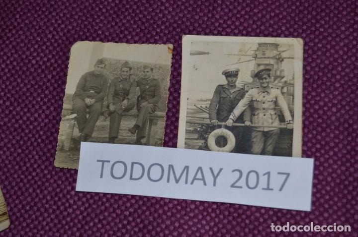 Militaria: COLECCION DE FOTOGRAFIAS MILITARES ANTIGUAS - CON INÉDITA FOTO DE FRANCO EN COCHE - VINTAGE - Foto 5 - 80100057