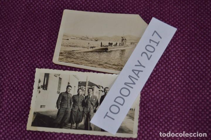 Militaria: COLECCION DE FOTOGRAFIAS MILITARES ANTIGUAS - CON INÉDITA FOTO DE FRANCO EN COCHE - VINTAGE - Foto 6 - 80100057