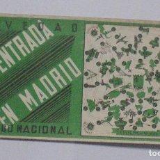 Militaria: LA ENTRADA EN MADRID. UN JUEGO NACIONAL. 33 X 17CM. REGULARES, INFANTERIA, TERCIO, FET Y JONS. VER. Lote 80172965