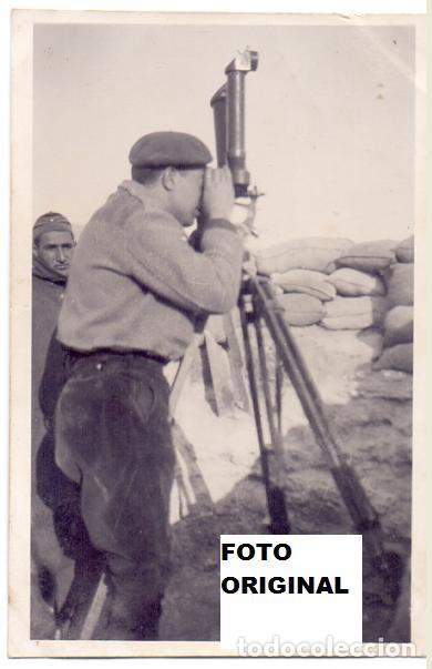 LA 55 DIVISION OBSERVATORIO PEÑA REDONDA NUEZ DE EBRO(ZARAGOZA) GUERRA CIVIL (Militar - Fotografía Militar - Guerra Civil Española)