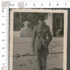 Militaria: FOTOGRAFÍA DEDICADA DE UN SOLDADO , MILITAR. Lote 81096412
