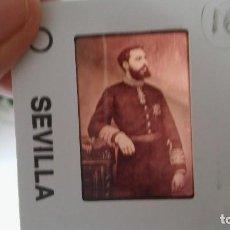 Militaria: DIAPOSITIVA MILITAR ESPAÑA SIGLO XIX. CARLOS VII DE BORBON.. Lote 81163504