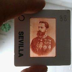 Militaria: DIAPOSITIVA MILITAR ESPAÑA SIGLO XIX. CARLOS VII DE BORBON.. Lote 90977878