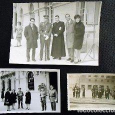 Militaria: LOTE DE 3 FOTOGRAFIAS DE MILITARES. AÑOS 50. Lote 81700196