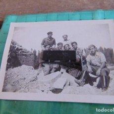 Militaria: FOTO FOTOGRAFIA GUERRA CIVIL REPUBLICANOS GUERRILLEROS MAQUIS ?? ALBESA LERIDA MAYO 1938. Lote 81735844
