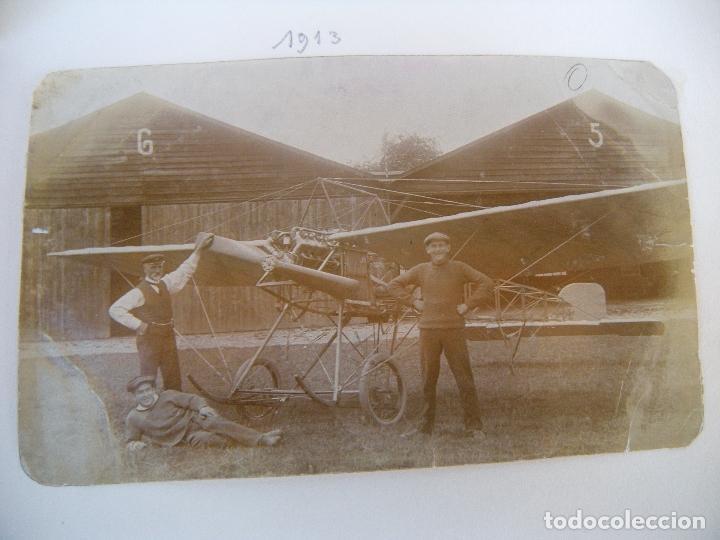 ALBUM CON FOTOS AVIONES AVIACIÓN SUIZA 1913 Y OTROS (Militar - Fotografía Militar - I Guerra Mundial)