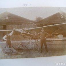 Militaria: ALBUM CON FOTOS AVIONES AVIACIÓN SUIZA 1913 Y OTROS. Lote 82195900