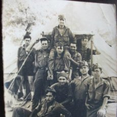 Militaria: FOTO DE MILITARES ESPAÑOLES , ENTRADA TIENDA DE CAMPAÑA . CAMPAMENTO. Lote 83809664