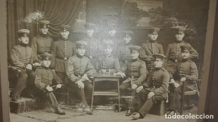 Militaria: fotografía de grupo militar. aleman - Foto 2 - 84691320