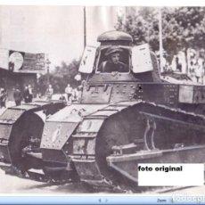 Militaria: TANQUE REPUBLICANO GUERRA CIVIL ESPAÑOLA EN LAS CALLES DE MADRID. Lote 84871076