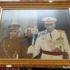 Militaria: AVIACION, ESPECTACULAR FOTOGRAFIA ENMARCADA DE S.A.R. EL INFANTE DE ORLEANS, 46X37 CMS. Lote 84921412
