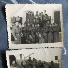Militaria: LOTE FOTOGRAFÍAS MILITAR SOLDADOS AMETRALLADORAS - AÑOS 40-50. Lote 85919415