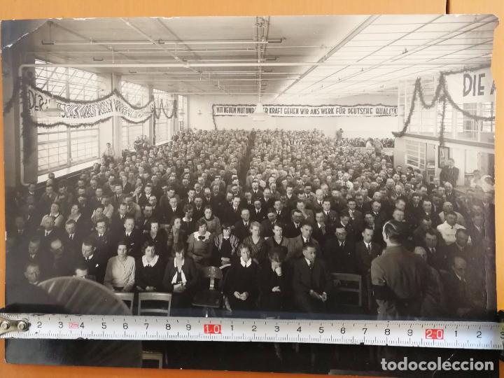 ANTIGUA FOTOGRAFÍA ALEMANA - MEETING O DISCURSO POLITICO - AÑOS 30 APROX. (Militar - Fotografía Militar - II Guerra Mundial)