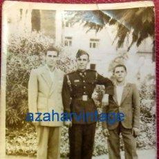 Militaria: ANTIGUA FOTOGRAFIA, SOLDADO DE FERROCARRILES, 65X90MM. Lote 86138964