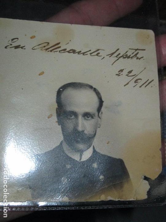 IMPORTANTE MILITAR ALICANTE ANTIGUA FOTO POSTAL 1911 FIRMADO LEOPOLDO MANUSCRITO (Militar - Fotografía Militar - Otros)