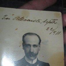 Militaria: IMPORTANTE MILITAR ALICANTE ANTIGUA FOTO POSTAL 1911 FIRMADO LEOPOLDO MANUSCRITO. Lote 86322804