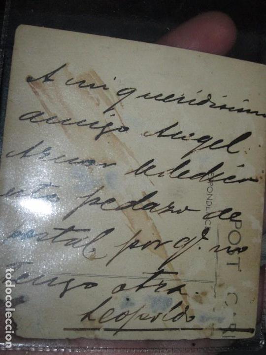 Militaria: IMPORTANTE MILITAR ALICANTE ANTIGUA FOTO POSTAL 1911 FIRMADO LEOPOLDO manuscrito - Foto 3 - 86322804