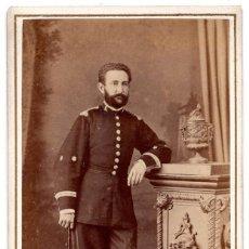 Militaria: FOTOGRAFÍA TENIENTE CORONEL CUERPO DE INGENIEROS ALFONSO XII-FOTOGRAFO ANTºF.NAPOLEÓN -10,5 X 6,4 CM. Lote 86436136