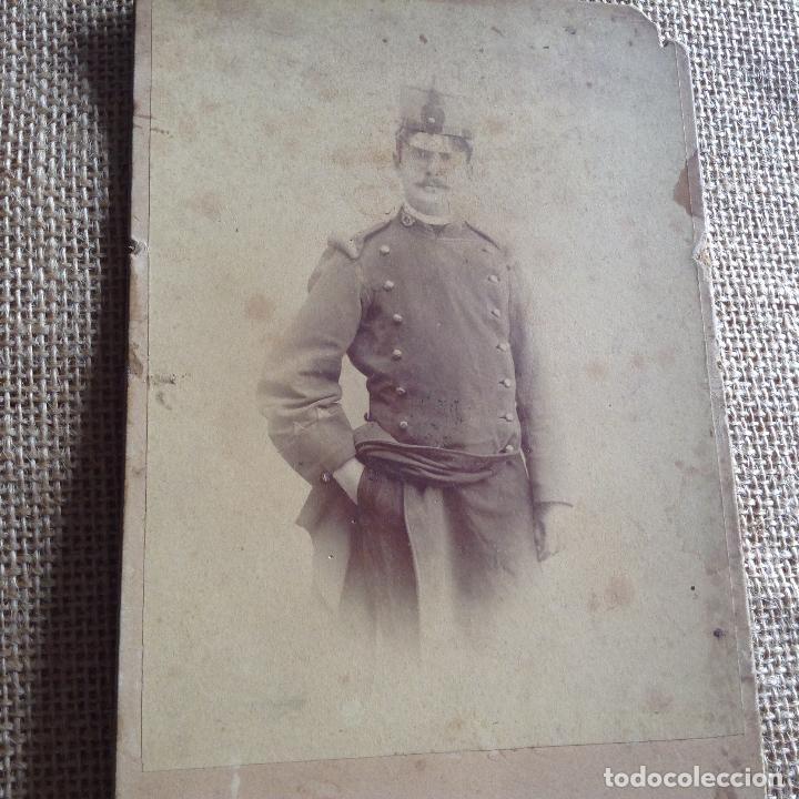 FOTOGRAFÍA SOLDADO ESPAÑOL SIGLO XIX (Militar - Fotografía Militar - Otros)