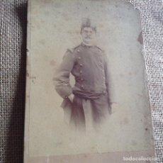 Militaria: FOTOGRAFÍA SOLDADO ESPAÑOL SIGLO XIX. Lote 86564820