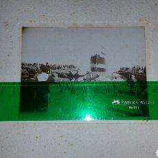Militaria: FOTOGRAFÍA DE LA BOTADURA DEL VAPOR PEDRO LUIS LACAVI 28 DE FEBRERO DE 1903. Lote 86703567