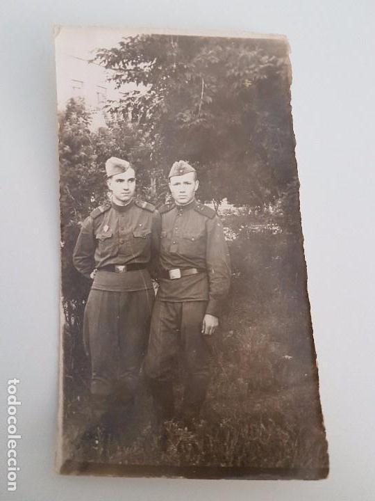 FOTO DOS SOLDADOS RUSOS (Militar - Fotografía Militar - II Guerra Mundial)