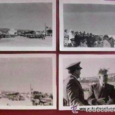 Militaria: LOTE DE 4 FOTOS SIDI IFNI : GENERAL ESPAÑOL ¿ ZAMALLOA ? Y TROPAS FRANCESAS, ALGUN ACTO. FOTO ROS. Lote 87584484