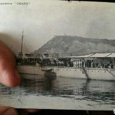 Militaria: FOTOGRAFÍA POSTAL DEL CAZATORPEDERO OSADO 1900. Lote 87847519