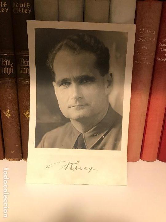 Militaria: Foto de Rudolf Hess autografiada,firmada, Tercer Reich, Adolf Hitler, Fuhrer,NSDAP,nazi - Foto 2 - 87883964
