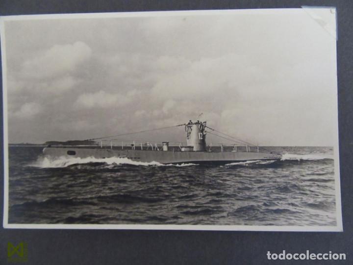 FOTOALBUM SUBMARINO ALEMAN U-BOOT 12. SEGUNDA GUERRA MUNDIAL. CERTIFICADO DE DEFUNCION DEL SOLDADO (Militar - Fotografía Militar - II Guerra Mundial)